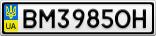 Номерной знак - BM3985OH
