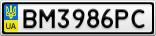 Номерной знак - BM3986PC