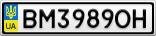 Номерной знак - BM3989OH