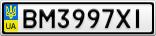 Номерной знак - BM3997XI
