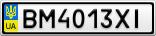 Номерной знак - BM4013XI