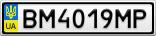 Номерной знак - BM4019MP