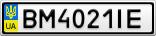 Номерной знак - BM4021IE