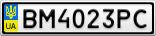 Номерной знак - BM4023PC