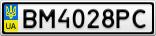 Номерной знак - BM4028PC