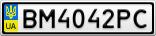 Номерной знак - BM4042PC