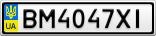 Номерной знак - BM4047XI