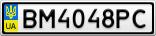 Номерной знак - BM4048PC