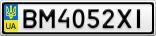 Номерной знак - BM4052XI