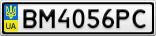 Номерной знак - BM4056PC