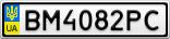 Номерной знак - BM4082PC