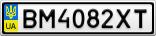 Номерной знак - BM4082XT