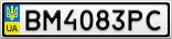 Номерной знак - BM4083PC