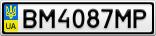 Номерной знак - BM4087MP