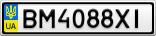 Номерной знак - BM4088XI