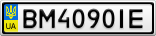 Номерной знак - BM4090IE