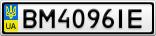 Номерной знак - BM4096IE