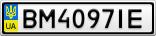 Номерной знак - BM4097IE
