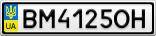 Номерной знак - BM4125OH