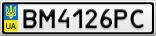 Номерной знак - BM4126PC