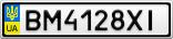 Номерной знак - BM4128XI