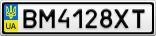 Номерной знак - BM4128XT