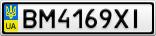 Номерной знак - BM4169XI
