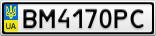 Номерной знак - BM4170PC
