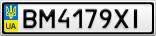Номерной знак - BM4179XI