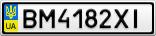 Номерной знак - BM4182XI