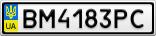 Номерной знак - BM4183PC