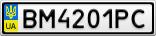 Номерной знак - BM4201PC