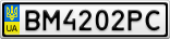 Номерной знак - BM4202PC