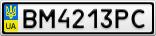 Номерной знак - BM4213PC