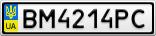 Номерной знак - BM4214PC