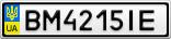 Номерной знак - BM4215IE