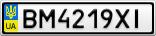 Номерной знак - BM4219XI