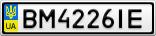 Номерной знак - BM4226IE