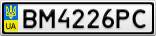 Номерной знак - BM4226PC