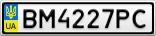 Номерной знак - BM4227PC