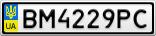 Номерной знак - BM4229PC