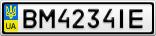 Номерной знак - BM4234IE