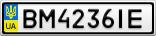 Номерной знак - BM4236IE
