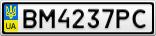 Номерной знак - BM4237PC