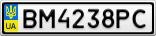 Номерной знак - BM4238PC