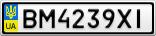 Номерной знак - BM4239XI