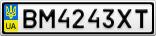 Номерной знак - BM4243XT