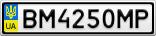Номерной знак - BM4250MP