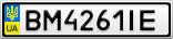 Номерной знак - BM4261IE