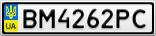 Номерной знак - BM4262PC